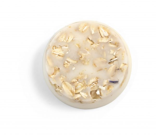 Oatmeal natural round lotion bar